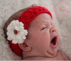 Baby Headband Crochet Baby Headband by SweetnessInSmyrna on Etsy, $9.99