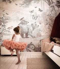 Nursery Room, Baby Room, Girl Room, Girls Bedroom, Home Wallpaper, Forest Wallpaper, Farmhouse Christmas Decor, Kids Corner, Kidsroom