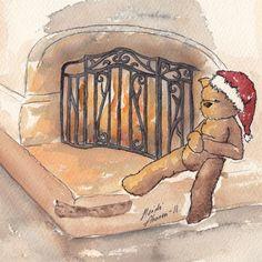 NyyssäNalle (Teddybear from Nyyssänniemi) enjoying Christmast time.