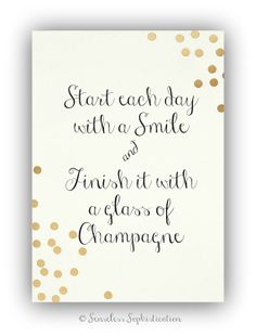 Glass of Champagne / gold / PRINT / 8x10 / by emilyhatch on Etsy, $16.00