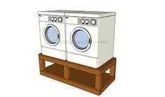 sch ma de construction d 39 un support pour machine laver. Black Bedroom Furniture Sets. Home Design Ideas