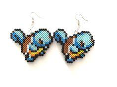 Pokemon Squirtle Perler Bead Earrings  by CarafirasCreations