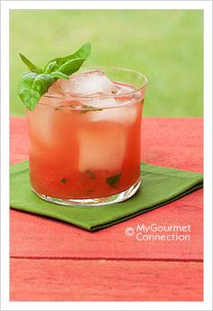 Watermelon Basilito ~ white rum, muddled watermelon, basil, fresh lime remove the rum add ginger ale or sprite, enjoy making it a VIRGIN!