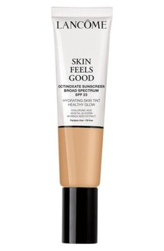 Free shipping and returns on Lancôme Skin Feels Good Hydrating Skin Tint Healthy Glow SPF 23 (Nordstrom Exclusive) at Nordstrom.com. What it is: A hydrating skin tint for a no-makeup look, infused with skin-loving ingredients that put your skin first with sheer-to-buildable natural coverage.What it does: This oil-free skin tint was made for those who want radiant, even-looking skin. Its sheer tint allows your skin to shine through, leaving you with a healthy glow. It's enriched with skin-...