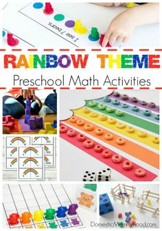 We have been working on a Rainbow Theme this week in our household! I have compiled a list of Rainbow Theme Preschool Math Activities that Charlee Ann really enjoyed! Spring is a great time of year to learn about rainbows with all the rain that happens your bound to see one soon enough.