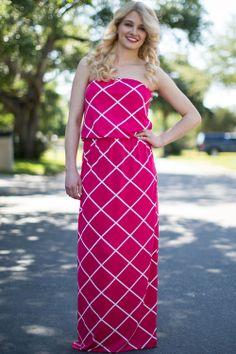Diamond Berry Print Maxi Dress - JC's Boutique - www.SHOPJCB.com