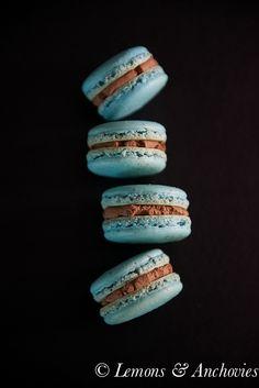 French Macarons with Chocolate-Chambord Ganache (French Meringue Method)
