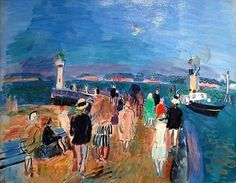 Title: Fête nautique au Havre by Raoul Dufy. Artist: Raoul Dufy. Painting