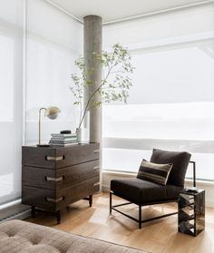 Condo design project in Victoria, British Columbia in the penthouse unit over looking the water.