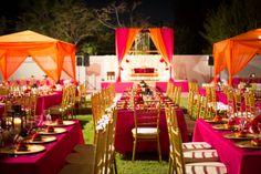 Arabian wedding set up