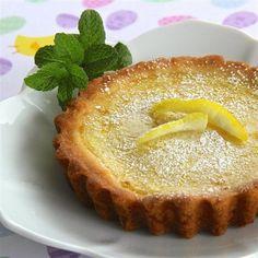 Sweet and simple lemon tart @ http://allrecipes.co.uk