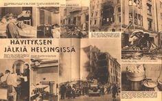 Air Raid Bombing of Helsinki by Soviets Suomen Kuvalehti December 1939 Finnish Civil War, History Of Finland, Night Shadow, Something Old Something New, Air Raid, Fight For Us, Picture Postcards, Iconic Photos, Life Magazine