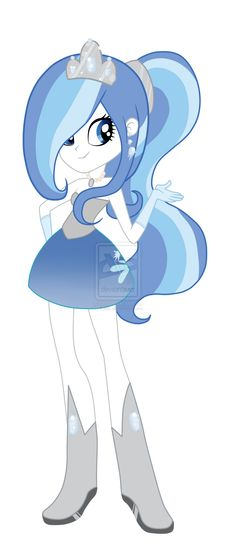 MY LITTLE PONY: Equestria Girls: Snowblossom by Kaiilu.deviantart.com on @DeviantART