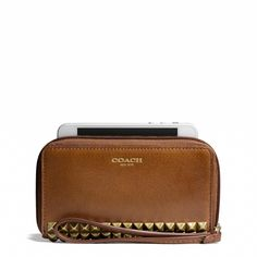 The Legacy East/West Universal Case in Studded Leather from Coach