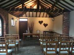 We have beautiful rustic hearts to place behind the registrar's table for your ceremony.