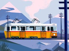 Tram between the mountains Mountains, Illustration, Movie Posters, Film Poster, Illustrations, Billboard, Film Posters, Bergen