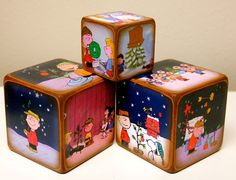 Charlie Brown Christmas Blocks Peanuts by ChickenDoodles on Etsy