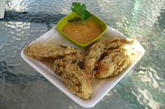 Cornmeal-Fried Oysters With Chipotle Mayonnaise. Photo by IngridH