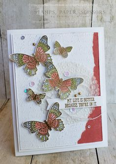 Butterfly Gala - Well Said - Eyelet Lace by Tammy C. Horse Cards, Butterfly Cards, Bird Cards, Global Design, Stamping Up, Potpourri, Stampin Up Cards, Making Ideas, I Card
