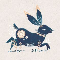 Hare illustration by Girl Scout, a.k.a Laura Hopewell