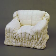 Gaetano Pesce Sitdown Lowback Armchair 1975 Quilted dacron fabric and polyurethane Plywood Furniture, Art Furniture, Furniture Design, Weird Furniture, Interior Architecture, Interior And Exterior, Interior Design, Sofa Chair, Armchair