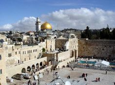 The Old City, the Wailing Wall, the Church of the Holy Sepulcher, the Dome of the Rock.