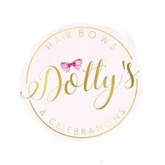 Branding Design, Logo Design, Graphic Design, Logo Maker, Business Logo, Logo Inspiration, Brand Identity, Pink And Gold, Hair Bows