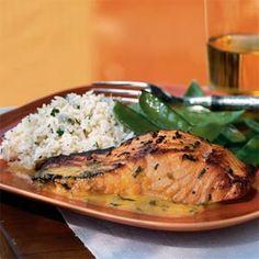 Salmon with Orange-Fennel Sauce | MyRecipes.com #MyPlate #protein