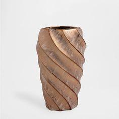 Koperkleurige aardewerken vaas met schulpen - Vazen - Decoratie | E 35,95