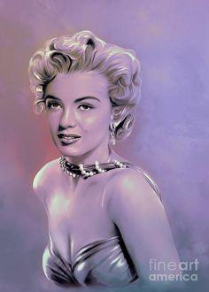 Marilyn Monroe Painting  -  Marilyn Monroe Fine Art Print