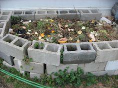 compost bin from concrete blocks