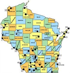 Wisconsin State Parks. There are forty seven state parks in Wisconsin and they include Devil`s Lake State Park which receives over 1.2 million visitors a year.