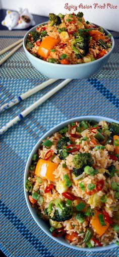 Try this asian inspired veggie fried rice to warm you up on a cold winter day.