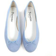 COMME DES GARÇONS Shoes (1.020 BRL) ❤ liked on Polyvore featuring shoes, flats, scarpe, sapatos, blue, women, flat pump shoes, wide flats, flat pumps and repetto shoes
