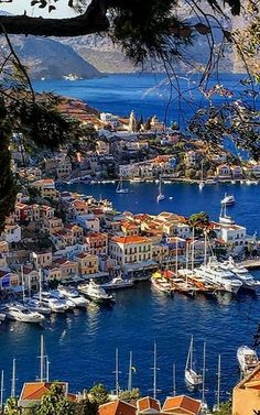The harbor town of Symi Island, Greece | by akincoban