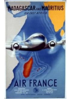 Affiche Musée Air France® - Madagascar and Mauritius