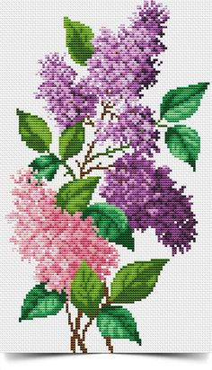Cross stitch - flowers: California poppies (free pattern - chart - part C) Cross Stitch Kitchen, Cross Stitch Love, Cross Stitch Flowers, Modern Cross Stitch, Cross Stitch Charts, Cross Stitch Designs, Cross Stitch Patterns, Cross Stitching, Cross Stitch Embroidery