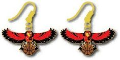Atlanta Hawks  NBA Team Logo Dangler Earrings by aminco -- Find out more about the great product at the image link.
