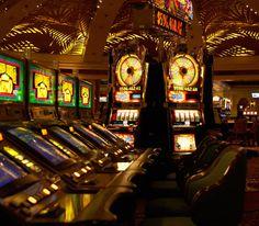 Interior of empty casino