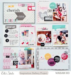 Project Life Week 5 - Using February 2014 Kit for Elle's Studio by Waisam Ho