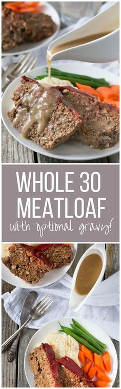 Perfect for a weeknight meal! This gluten free, Paleo and Whole 30 Meatloaf is packed with flavor and added vegetables! Make it with beef, pork or turkey Vegetable Recipes Easy Healthy, Spiral Vegetable Recipes, Vegetable Korma Recipe, Paleo Recipes, Real Food Recipes, Vegetable Samosa, Cooking Recipes, Chicken Recipes, Paleo Meals