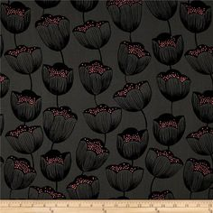 Designed by Sarah Watts for Cotton + Steel, this rayon challis fabric is finely woven, very lightweight and ultra soft. This gorgeous fabric is perfect for flirty blouses, dresses, lingerie, tunics, tops and more. Colors include black, charcoal and neon pink.