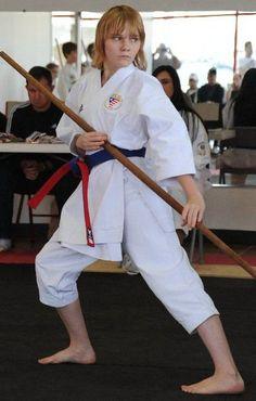 Bo, a kobudo weapon in Karate