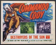 COMMANDO CODY  (1953) Original Title card size, 11x14 movie poster.
