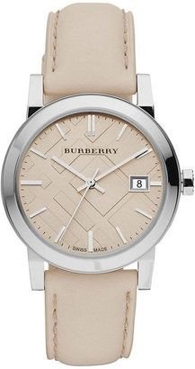 Burberry Watch, Women's Swiss Smooth Trench Leather.. Have this watch and its so cute on, I love it!