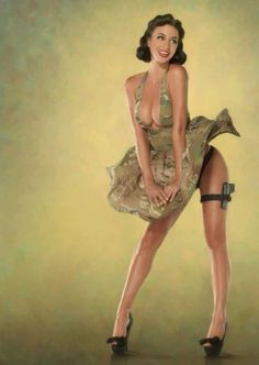 Old school pin up.