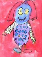 "Art Projects for Kids: ""Wild Thing"" Watercolor Monster"