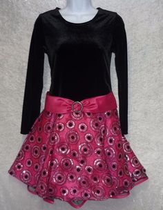 Ashley Ann girl's party dress velvet & chiffon dots full skirt size 12, 14 NEW  24.99  free US shipping http://www.ebay.com/itm/-/231637900900?