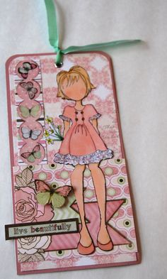 Handmade Prima Doll Tag live beautifully Handmade by Smiles4Paper