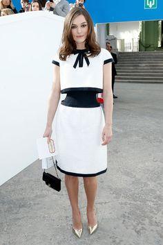 Keira Knightley in Chanel Haute Couture Celebrity Look, Celebrity Dresses, Estilo Keira Knightley, Look Fashion, Fashion Show, Paris Fashion, Woman Fashion, Nice Dresses, Dresses For Work